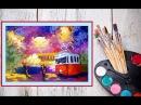 Видео урок Рисуем гуашью Трамвай Dari Art