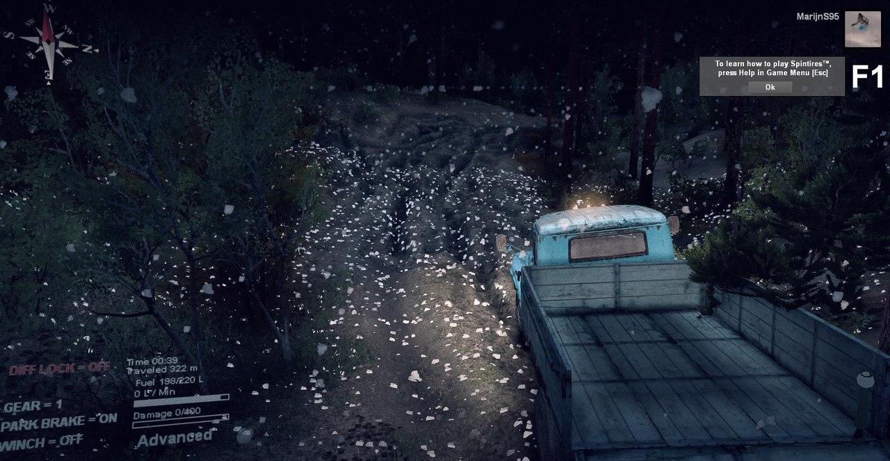 Симуляция дождя и снега в Spin Tires WeW-PzKAqCw