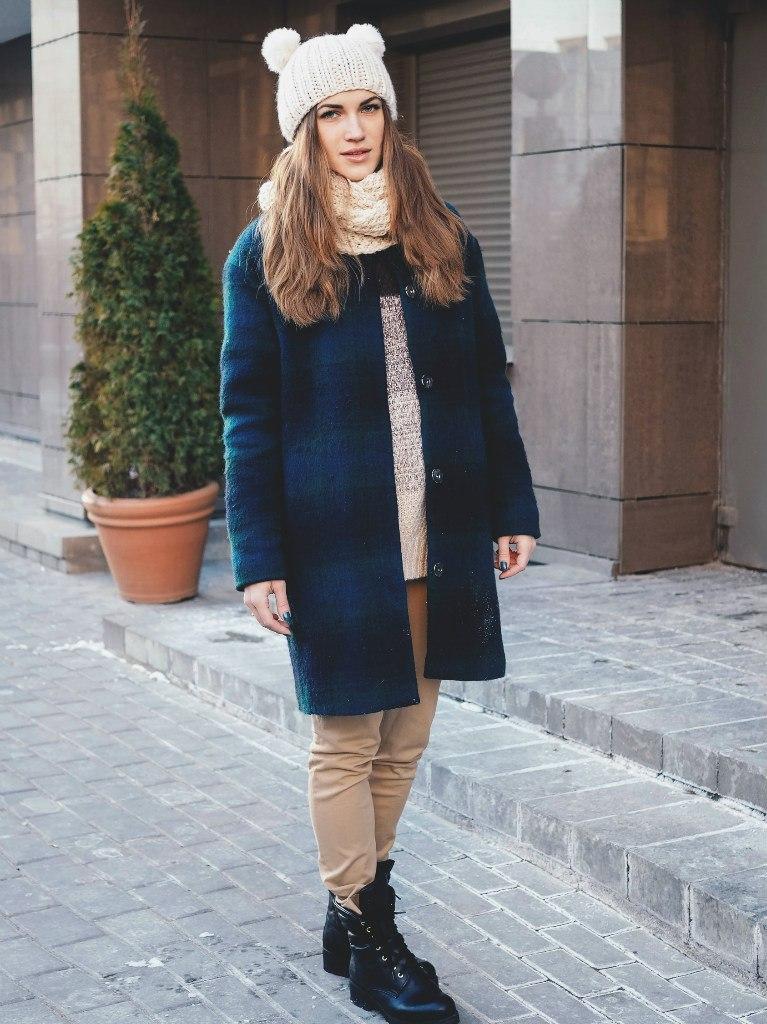 зимнее оверсаизд пальто