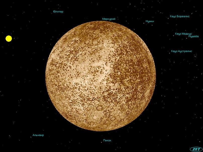 Планета Меркурий: а по внешнему виду Меркурий напоминает Луну