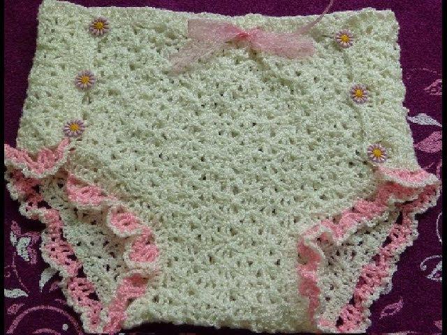2ч.Трусики крючком для девочки.Пошаговое вязание.Pantalone