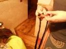 Повторное вплетение гладких мастеровых де-дредов с х/б нитками и канекалоном