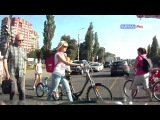 Пешеход и велосипедист. 9 апреля. Калининград.- Imran Pro TV