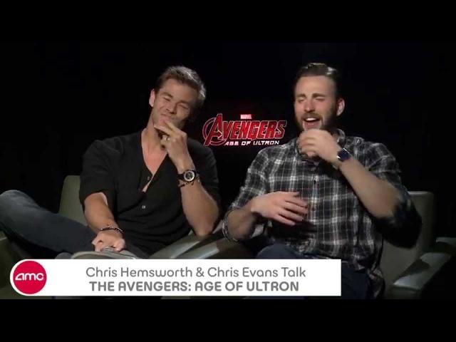 Chris Hemsworth Chris Evans Chat THE AVENGERS: AGE OF ULTRON