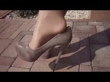 Nylon layers legs - pantyhose gobi Wolford over white stockings