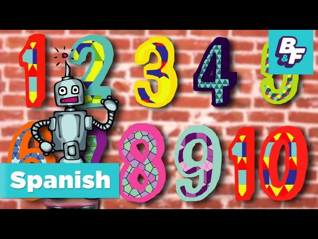 Numbers Song in Spanish. Canción de los números de BASHO FRIENDS