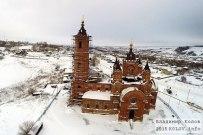 05 января 2015 -  Самарская область: Храм Космы и Дамиана в селе Мусорка зимой с высоты