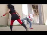 Kwonkicker vs Karate Girl Fight Scene (Tekken _ DOA Style)