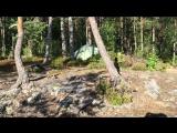 Разбили небольшой лагерь на острове Соролансари в Карелии