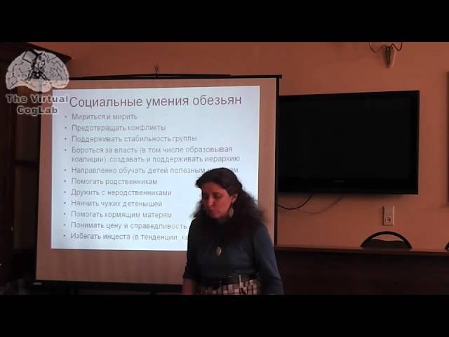 Доклад Светланы Бурлак (ч1) на Московском семинаре по когнитивной науке 10.04.2014