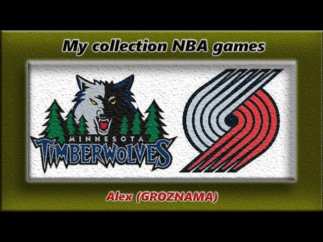 2000 WCQF Portland Trail Blazers VS Minnesota Timberwolves (Game 1)