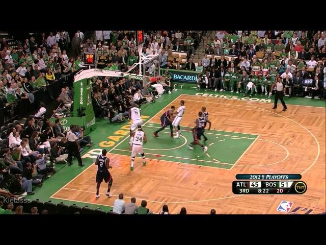Kevin Garnett 28 points (clutch shot) vs Hawks full highlights (2012 NBA Playoffs GM6)