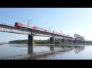 Электропоезд ЭД2Т 0019 на мосту через р Томь перегон Карлык Томусинская
