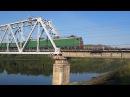 Электровоз ВЛ10у 1013 с грузовым составом на мосту через р Томь перегон Карлык Томусинская