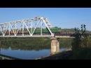 Электровоз ВЛ10у 854 с грузовым составом на мосту через р Томь перегон Карлык Томусинская