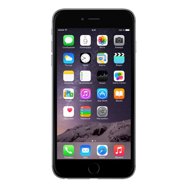 Смартфон iPhone 6 Plus 128GB Space Gray (MGAC2RU/A), Apple