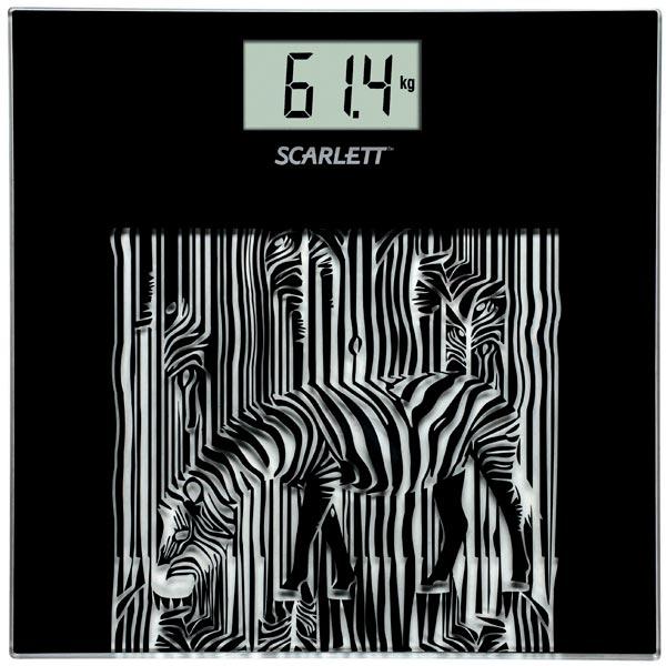 Весы напольные SC-BS33E004 Zebra, Scarlett
