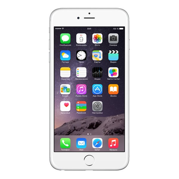 Смартфон iPhone 6 Plus 128GB Silver (MGAE2RU/A), Apple