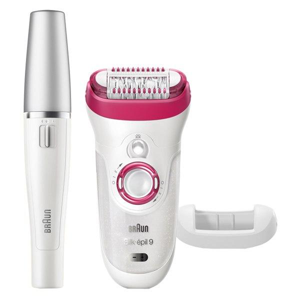 Эпилятор Silk-epil 9-538 Wet & Dry + Эпилятор для лица, Braun