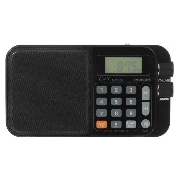 Радиоприемник МR-280 Black, MAX