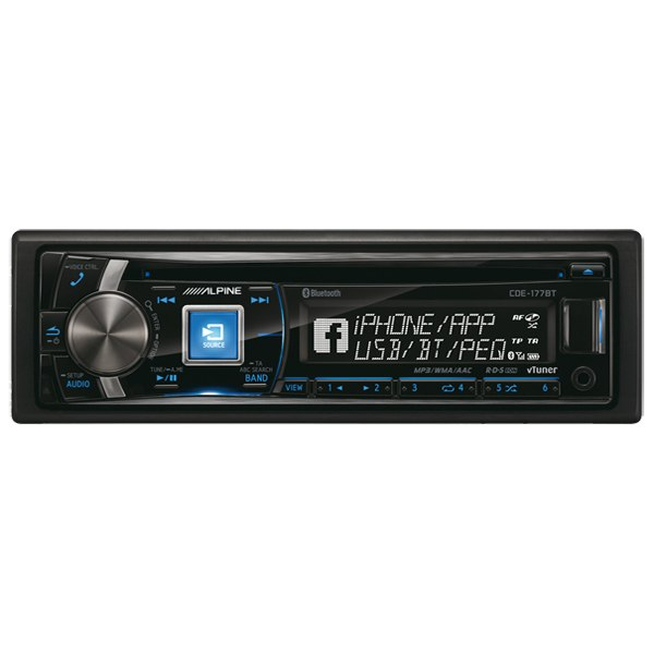 Автомобильная магнитола с cd mp3 CDE-177BT, Alpine