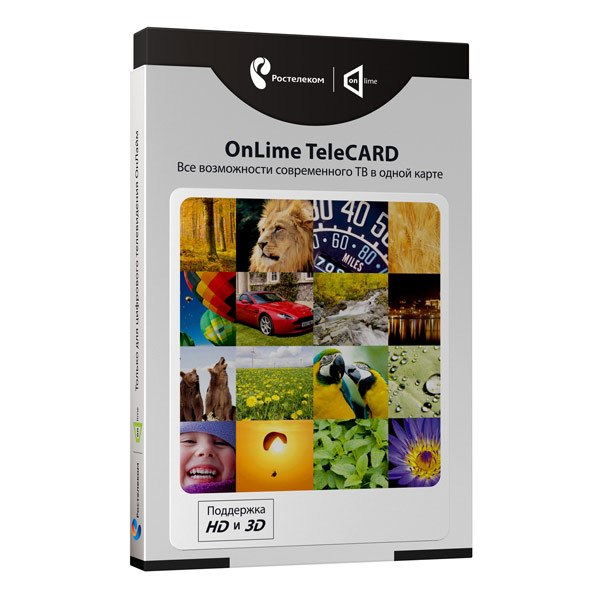 Комплект спутникового тв TeleCard (только для Москвы), OnLime