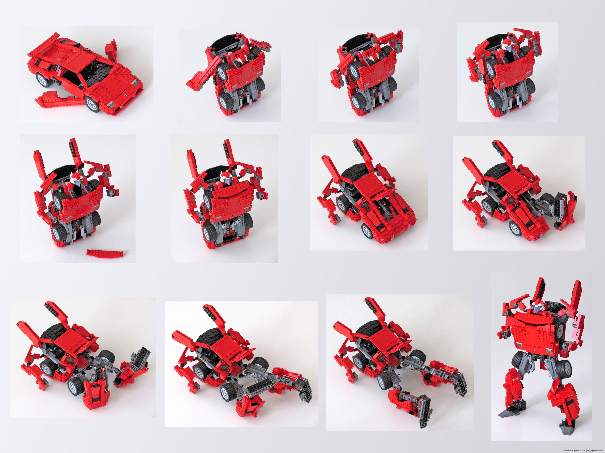 Как сделать трансформера из лего по инструкции 464
