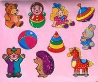 Трафареты пластиковые. игрушки, Дрофа-Медиа