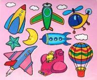 Трафареты пластиковые 1613 воздушный транспорт, Дрофа-Медиа