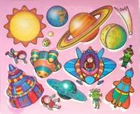 Трафареты пластиковые 1616 космос, Дрофа-Медиа