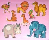 Трафареты пластиковые 1602 экзотические животные, Дрофа-Медиа