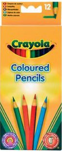 12 цветных карандашей, Crayola