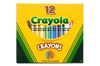 12 разноцветных восковых мелков, Crayola