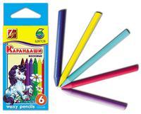 Восковые карандаши, круглые (6 цветов), Луч (химзавод)