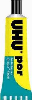 """Клей для пенополистирола """" por"""" (для пористых пластиков), 50 мл, UHU"""