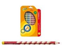 Набор цветных карандашей для левшей  easycolors, 12 штук c точилкой, STABILO