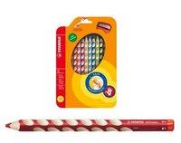 Набор цветных карандашей для правшей  easycolors, 12 штук c точилкой, STABILO