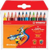 Набор цветных карандашей trio, укороченные, 12 цветов, STABILO