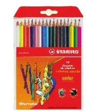 Набор цветных карандашей: 15 базовых + 3 флуоресцентных цвета, STABILO
