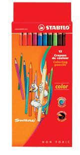 Набор цветных карандашей: 12 цветов, STABILO