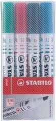 Набор из 4 маркеров с овальным наконечником  plan, STABILO
