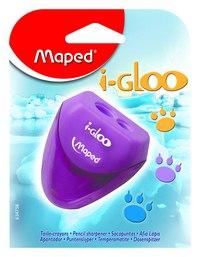 """Точилка пластиковая """"i-gloo"""", 2 отверстия, с контейнером, Maped"""