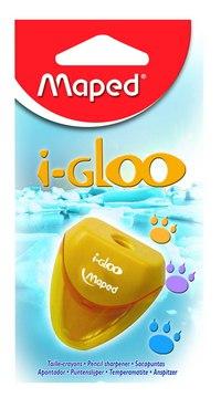 """Точилка пластиковая """"i-gloo"""", 1 отверстие, с контейнером, Maped"""