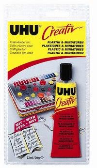 Клей «creative» для пластмасс и художественных миниатюр, UHU