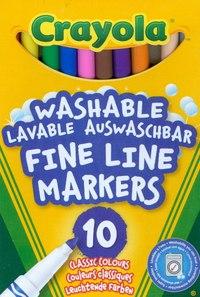10 тонких фломастеров, Crayola