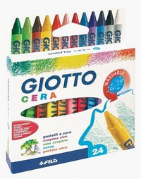 Восковые мелки (24 цвета), FILA-GIOTTO