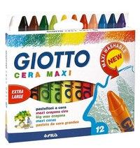 Восковые мелки cera maxi, 12 цветов, FILA-GIOTTO