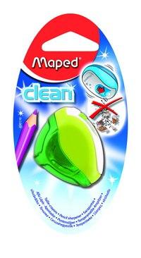 """Точилка пластиковая """"clean"""", 1 отверстие, с контейнером, Maped"""