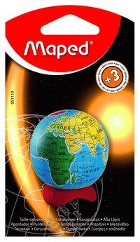 """Точилка пластиковая """"глобус"""", 1 отверстие, с контейнером, Maped"""