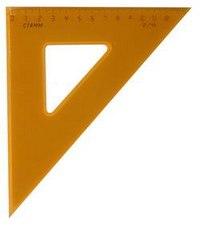 Треугольник, 13 см, 45 градусов, флуоресцентный, прозрачный, Стамм